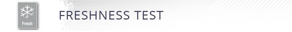 certyfikat FRESHNESS TEST